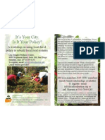 It's your city. Is it your Policy - Rebuilding Local Food Systems