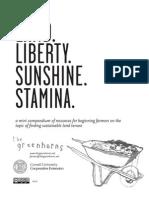 Land, Liberty, Sunshine, Stamina - Land Tenure Resources