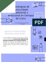 ESTRATEGIAS DE AUTOCUIDADO PERSONAL