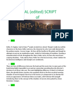 Harry Potter chamber of secrets script