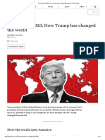 US election 2020_ How Trump has changed the world - BBC News