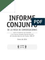 Informe Conjunto, Mesa de Conversaciones, enero de 2014-Espa_ol