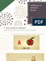 Einführung zur deutsche Sprache