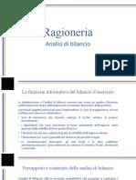 Analisi di bilancio e riclassificazione SP