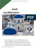 Grecia - Santorini - Arquitetura tradicional