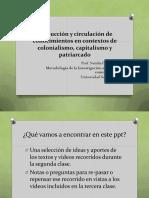 Producción y circulación de conocimientos en y desde Latinoamérica