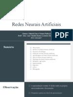 Redes Neurais Artificiais - Apresentação