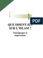 Que Disent Ils Sur L Islam