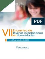 Programa para ponentes - Encuentro de Jóvenes Investigadores