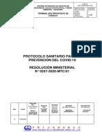 Protocolo Sanitario MTC para la prevención del COVID-19  CREC10 13.05.2020