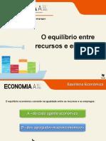 O equilíbrio entre recursos e empregos