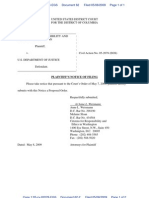 CREW v. Department of Justice (Tobacco settlement)