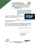 EDITAL COMPLEMENTAR 001 AO EDITAL 002-2016 - UNEMAT PPGEL(1)
