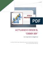 """ACTUANDO DESDE EL """"DEBER SER"""" - Eje N° 2 Trabajo de Ética (1) (1) (1)"""
