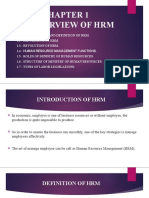 Chapter 1 - Overview for HRM