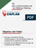 Metodologías e Instrumentos de Incidencia en Políticas Públicas