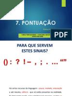 7. PONTUAÇÃO