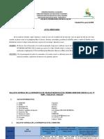ACTA  DE EVALUACIÓN DEL BALANCE PRIMER SEMESTRE IE. 82495 - CALLACAT