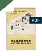 Clarkson Cutter Grinder Manual