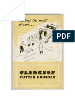 Clarkson Cutter Grinder Manual