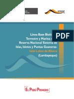Línea Base Biológica Terrestre y Marina de la Reserva Nacional Sistema de Islas, Islotes y Puntas Guaneras
