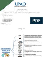 ORGANIZADOR VISUAL - 12 CARACTERICAS DE UN EMPRENDEDOR