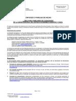 ESC - REQUISITOS CONYUGES O PAREJAS DE HECHO