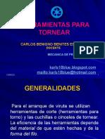 HERRAMIENTAS PARA TORNEAR