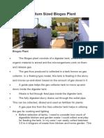 Medium Sized Biogas Plant