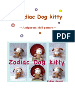 Zodiac Dog kitty- Crochet amigurumi doll pattern-pdf