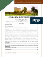NUALS IBC E-NEWSLETTER, VOL VI, May-July, 2019