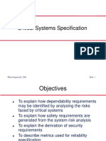 Ch9--Crtical systems Specification