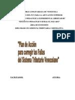 Plan de accion para mejorar el sistema tributario venezolano
