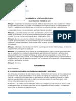 Proyecto de Ley de Suspensión de Desalojos en Pandemia