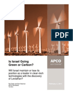 Is Israel Going Green or Carbon?