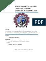 TRABAJO DE  PLANEAMIENTO CONTROL Y EJECUCION  EN OBRAS  DE CONSTRUCCION