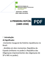 PRIMEIRA REPUBLICA