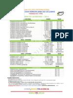 #ciclismo #FVC TASAS DE  #LICENCIA 2011 #Venezuela