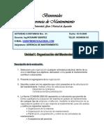 ORGANIZACION DEL MANTENIMIENTO