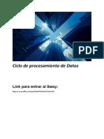 Ciclo de procesamiento de Datos
