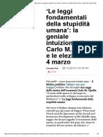 'Le leggi fondamentali della stupidità umana'_ la geniale intuizione di Carlo M
