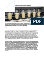ISO 22000 – Système de management de la Sécurité des D A