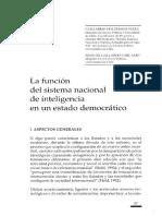 La función del sistema nacional de inteligencia en un estado democrático