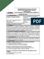 Plano de Aula -Tratamento de Águas Residuárias e efluentes industriais_ Turma EAS 2016 Paragominas