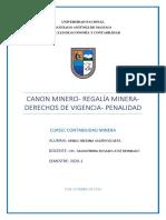 CANÓN MINERO, REGALÍAS