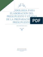 Metodologia para la elaboracion del presupuesto y Etapas de la preparacion del presupuesto