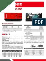 Data Sheet   400  Kva