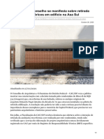 Conselho Se Manifesta Sobre Retirada de Azulejos Históricos Em Edifício Na Asa Sul