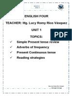 MODULO - ENGLISH FOUR - UNIT 1.docx