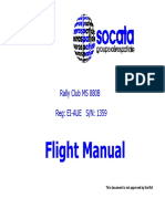 Rallye ms880b POH Flight Manual